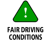Fair Driving Conditions Icon